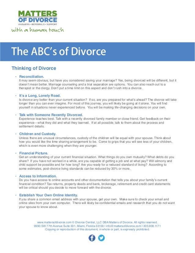 Abcs of divorce 2 solutioingenieria Gallery