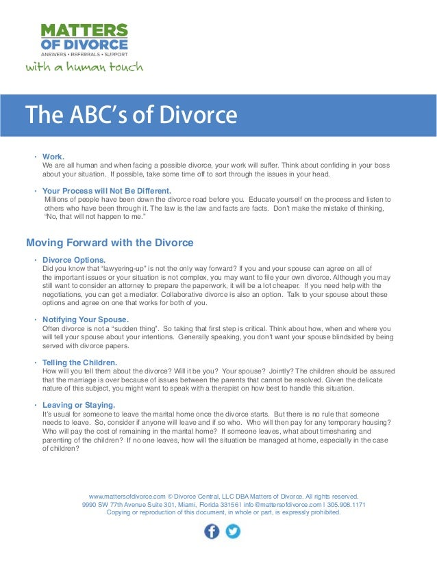 Abcs of divorce thinking of divorce the abcs of divorce 3 solutioingenieria Choice Image