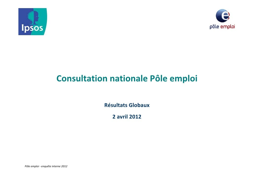 ConsultationnationalePôleemploi                                     RésultatsGlobaux                                  ...