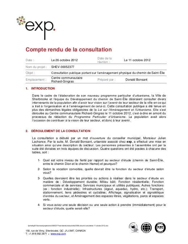 pshefsg001donneesprojetsshev00052377secretariaturbaaut-she23099 (résumé consultation 11 octobre 2012).doc 150, rue de Vimy...