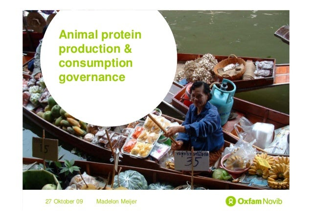 Animal protein Title  production & Sub-title  consumption  governance27 Oktober 09   Madelon Meijer