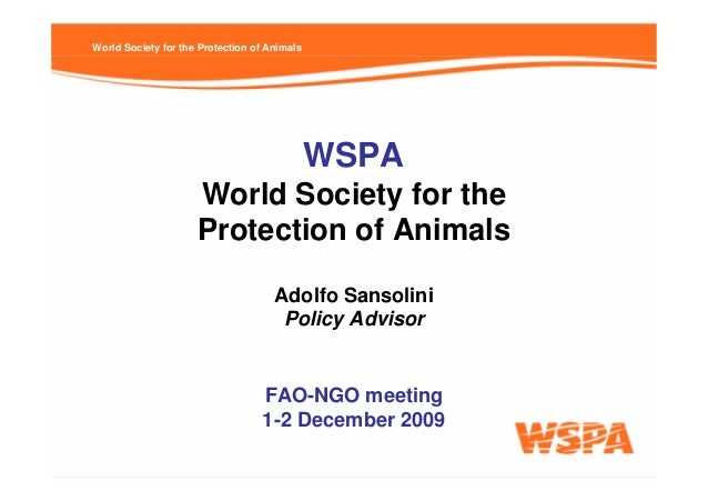 World Society for the Protection of Animals                                              WSPA                     World So...