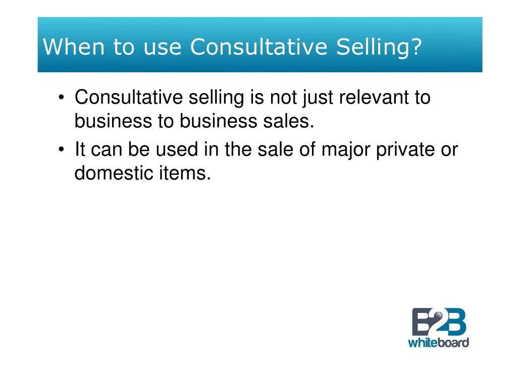 consultative selling 2 essay Consultative selling  are three critical factors involved in making the shift or change for a traditional model of selling to the consultative model of selling.