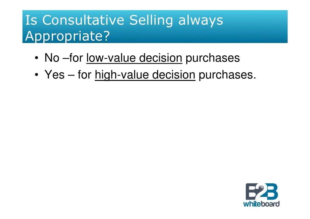 consultative selling essay