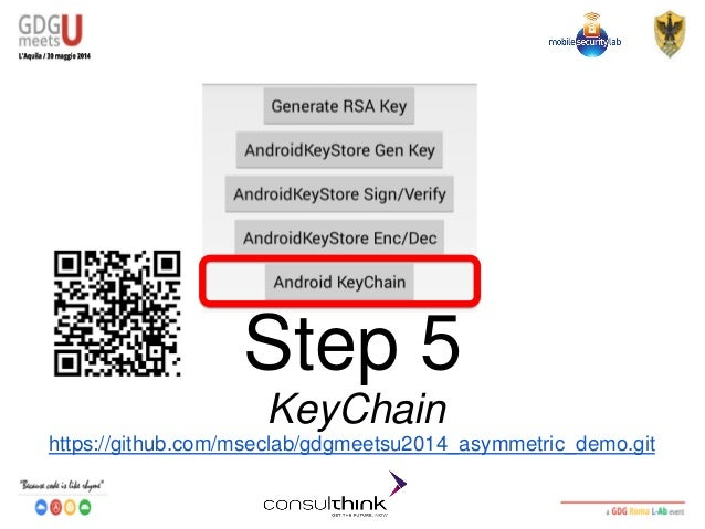 Consulthink @ GDG Meets U - L'Aquila2014 - Codelab: Android Securit…