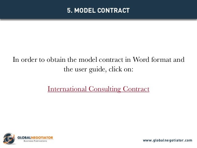 International Consulting Contract - Contract Template And Sample