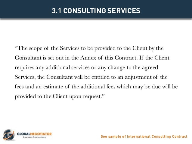 International Consulting Contract  Contract Template And Sample