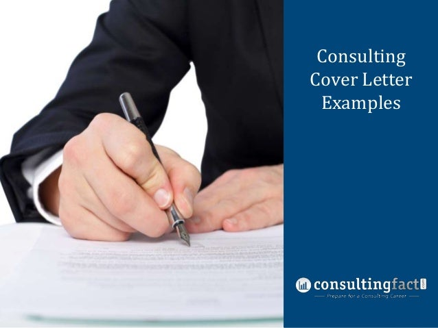 Consulting Management Cover Letter Consulting Examples Resume Sample ...