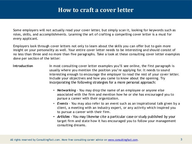 Good Crafting Cover Letters
