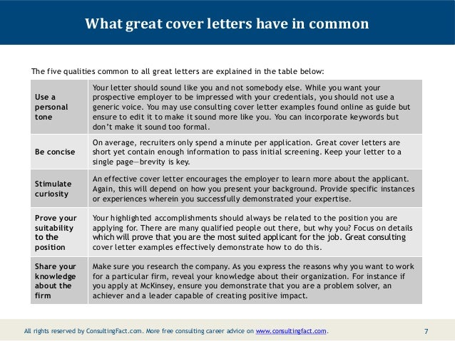 making a good cover letter