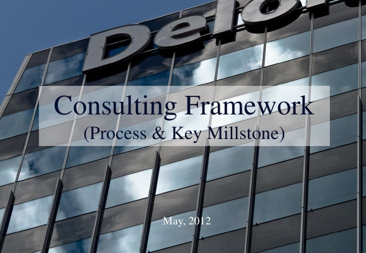 Consulting Framework  (Process & Key Millstone)           May, 2012