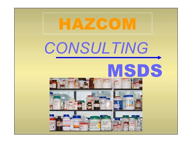 Consulting MSDS