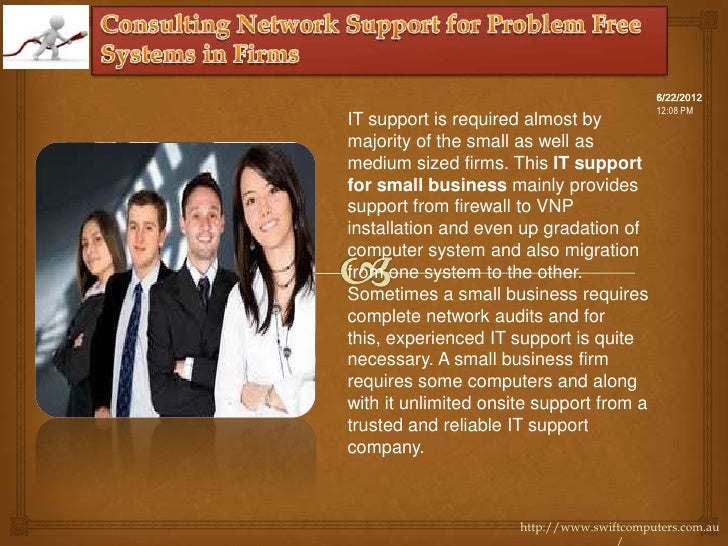 6/22/2012                                           12:08 PMIT support is required almost bymajority of the small as well ...