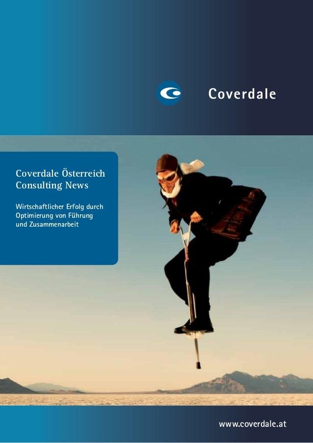 Coverdale ÖsterreichConsulting NewsWirtschaftlicher Erfolg durchOptimierung von Führungund Zusammenarbeit                 ...