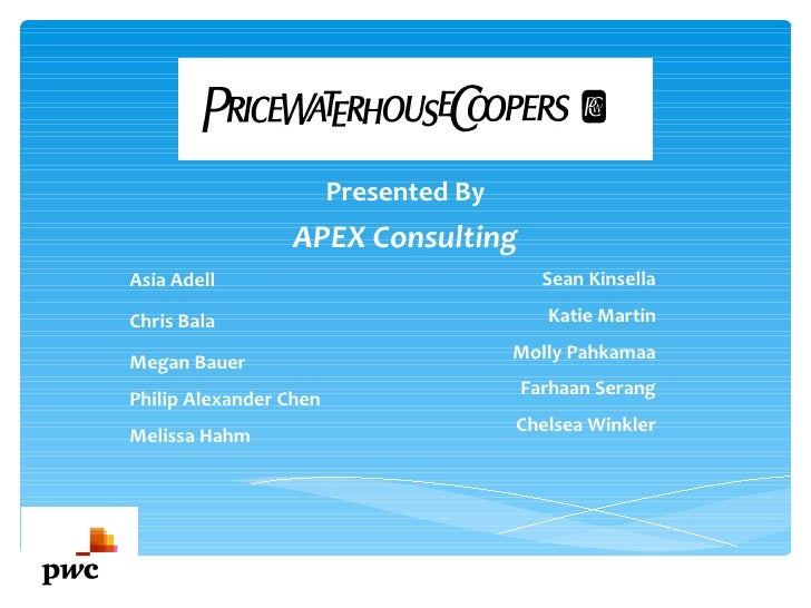 Presented By                 APEX ConsultingAsia Adell                               Sean KinsellaChris Bala              ...