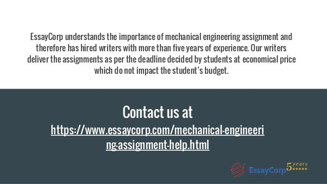 mechanical engineering assignment help production final design 15 essaycorp understands the importance of mechanical engineering assignment