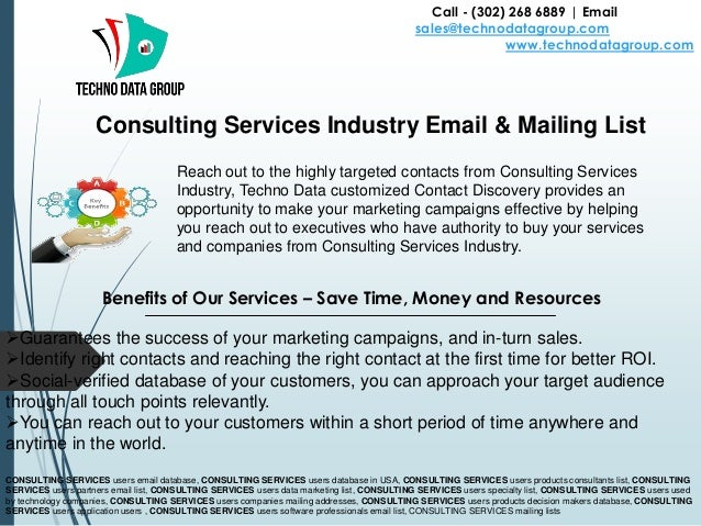 Marketing your Consultant Services