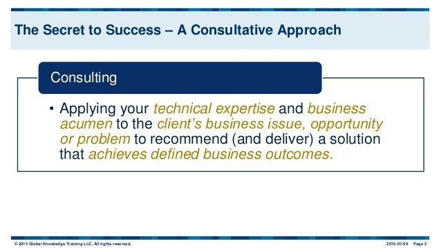 Consulting Skills: The Art and Science of Success Slide 3