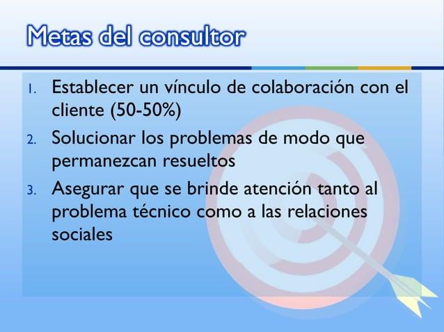 1.   Establecer un vínculo de colaboración con el     cliente (50-50%)2.   Solucionar los problemas de modo que     perman...