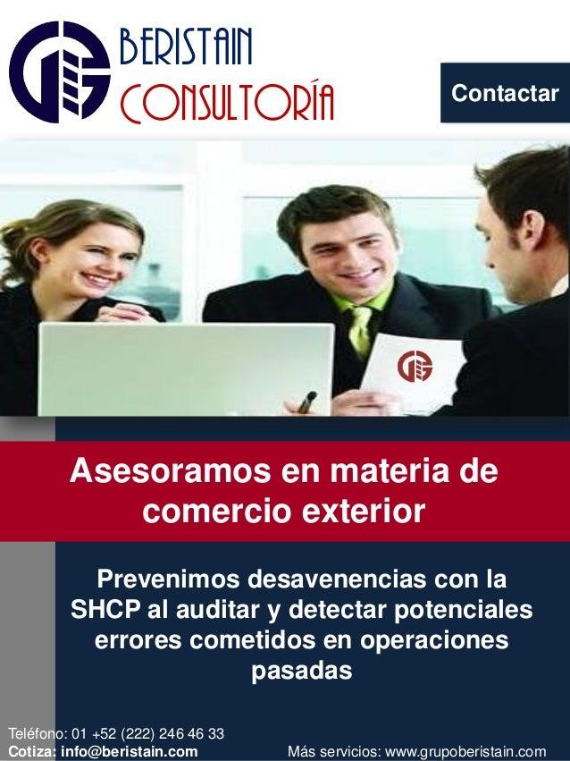 Contactar beristain Consultoría NOVEDAD EN EL AIRE Prevenimos desavenencias con la SHCP al auditar y detectar potenciales ...