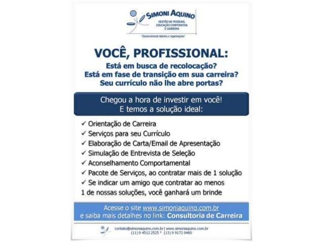 Consultoria de Carreira - Simoni Aquino