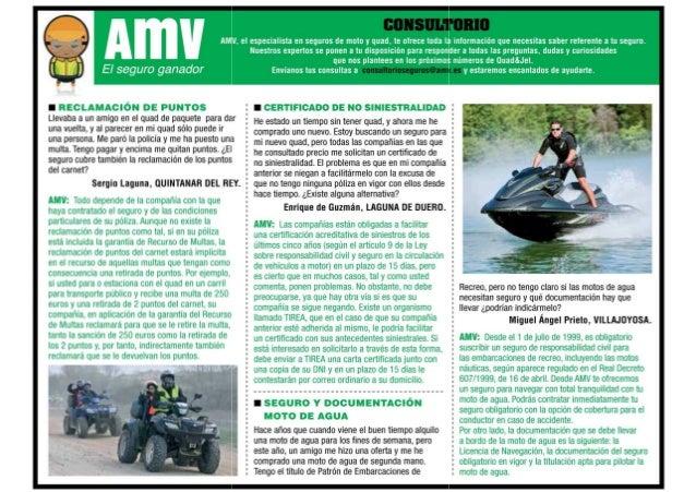 Consultorio de AMV sobre dudas de seguros