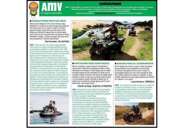 AMV resuelve dudas a la hora de asegurar motos agua y quads