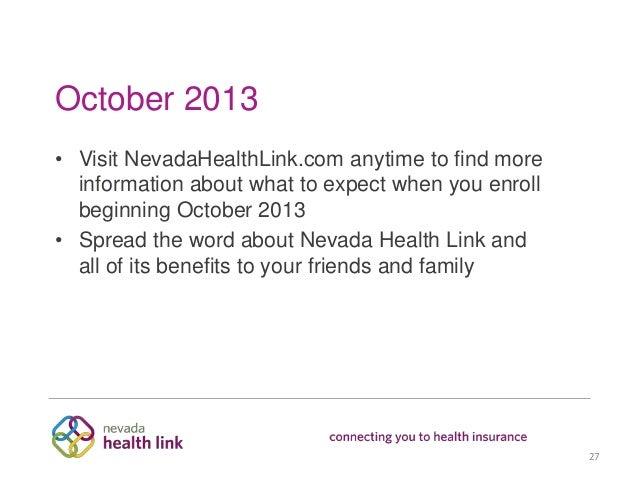 Nevada Health Link Consumer Presentation