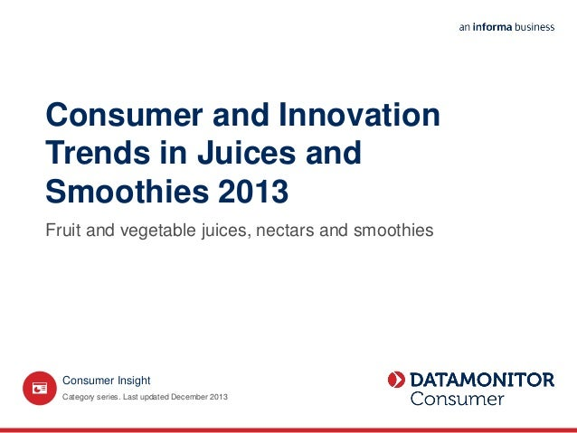 Juice and smoothie market in the U.S.