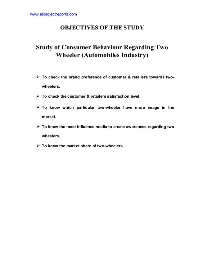 "consumer behaviour on two wheeler auto Paper ""markets and consumers- consumer behavior towards showroom services of two- wheeler with reference to cuddalore district"" that students and employees are more satisfied about showroom service and age of consumer is an important factor while choosing the brand of."