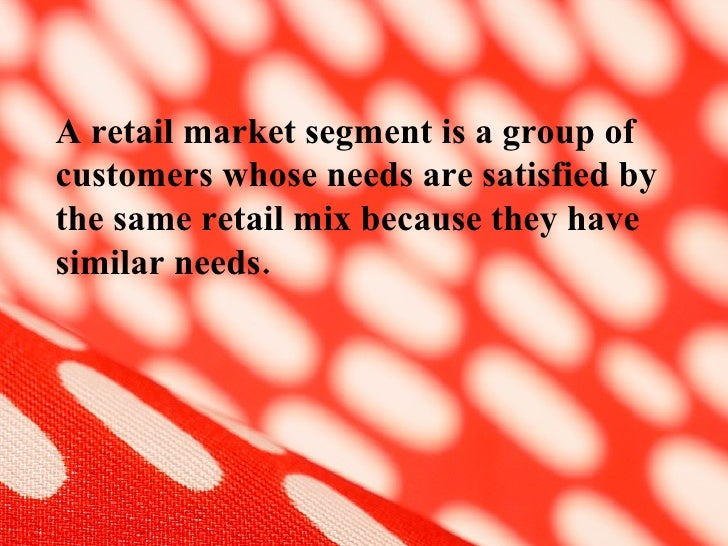 market segmentation and consumer buying behaviour Abstract: the objective of this study is to analyze the effective market segmentation and consumer behavior: a family perspective towards the demand for nigerian branded rice in abuja (fct) primary data was collected randomly from six settlements.