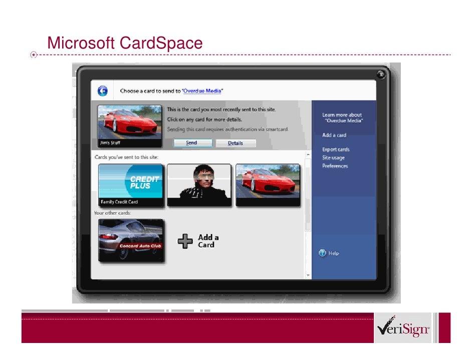 Microsoft CardSpace