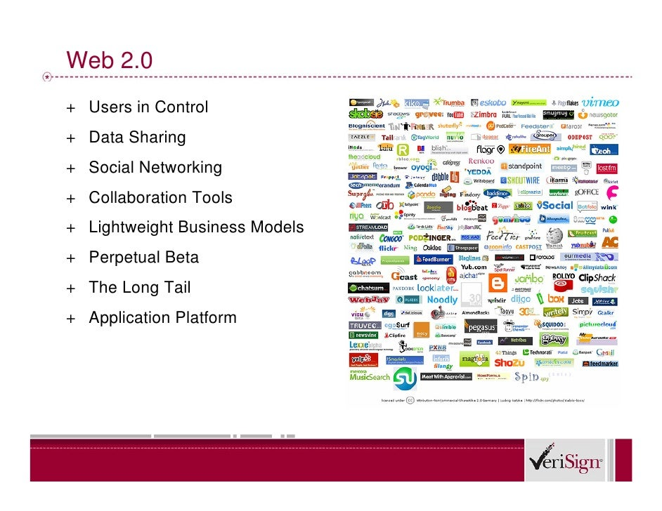 Web 2.0 + Users in Control + Data Sharing + Social Networking + Collaboration Tools + Lightweight Business Models + Perpet...