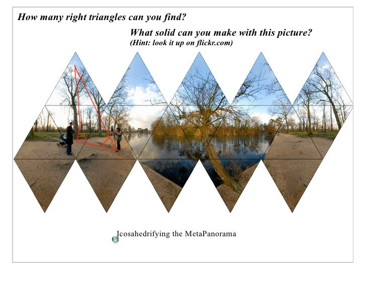 How many right triangles can you find?                          What solid can you make with this picture?                ...