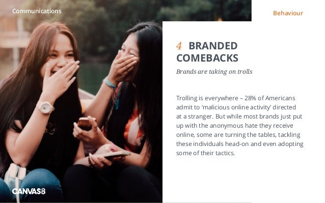 Eating and drinking / 1 1 DIRTY DINING People don't always want to eat clean4BRANDED COMEBACKS Brands are taking on trol...