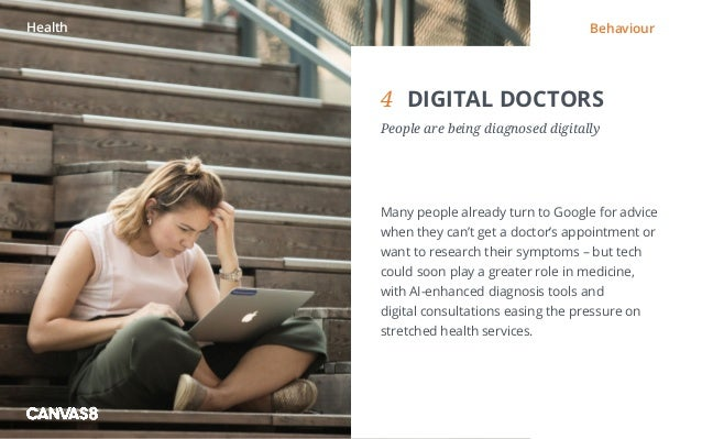 Eating and drinking / 1 1 DIRTY DINING People don't always want to eat clean4 DIGITAL DOCTORS People are being diagnosed...