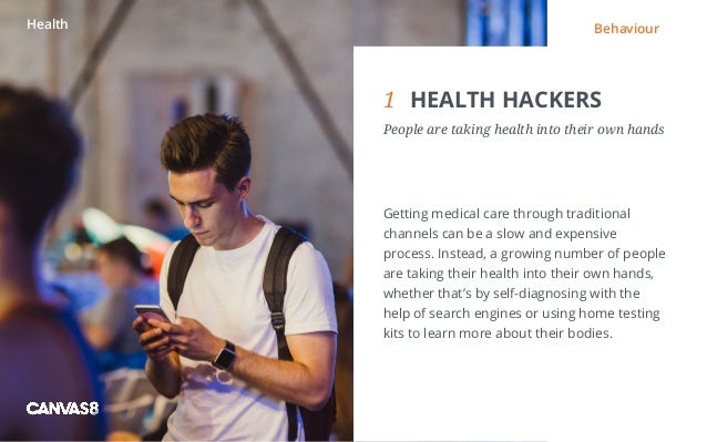 Eating and drinking / 1 1 DIRTY DINING People don't always want to eat clean1 HEALTH HACKERS People are taking health in...