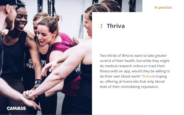 Eating and drinking / 1 1 DIRTY DINING People don't always want to eat clean1 Thriva Two-thirds of Britons want to take ...