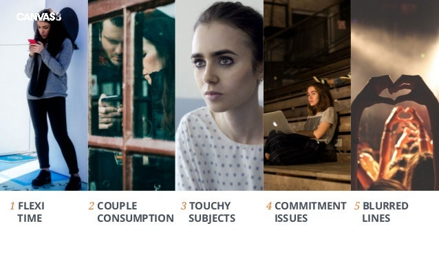 1 FLEXI TIME 3 TOUCHY SUBJECTS 4 COMMITMENT ISSUES 5 BLURRED LINES 2 COUPLE CONSUMPTION