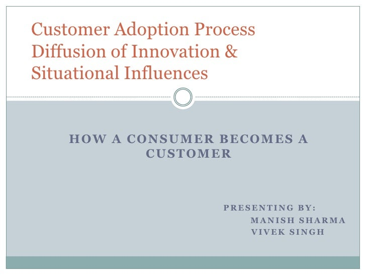 How a consumer becomes a customer<br />Presenting By:<br />                                                               ...