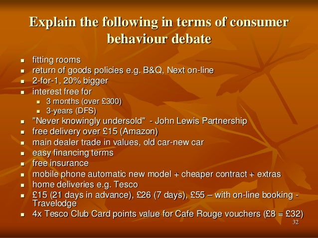 buyer behaviour of tesco Is this result evidence of asda's own failings or in fact a demonstration of consumer behaviour in  as smaller supermarket alternatives including tesco.