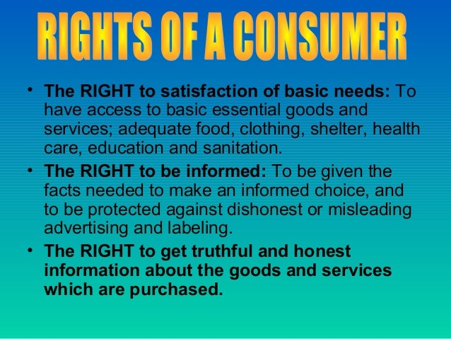 The need of consumer awareness at