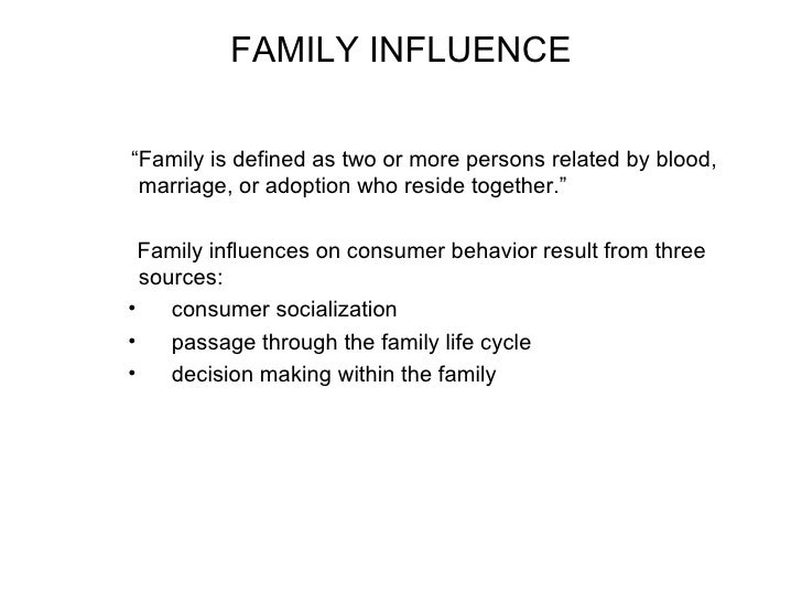 how family influences our personality Introduction over the past two decades or so, a significant literature has developed on the impact of family structure and family change on child wellbeing.