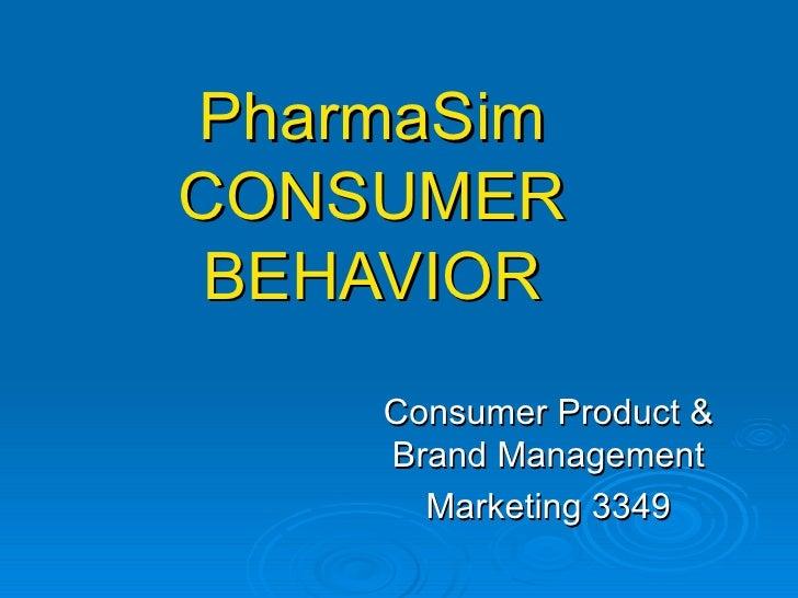 PharmaSim CONSUMER BEHAVIOR Consumer Product & Brand Management Marketing 3349