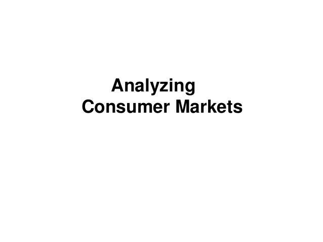 AnalyzingConsumer Markets