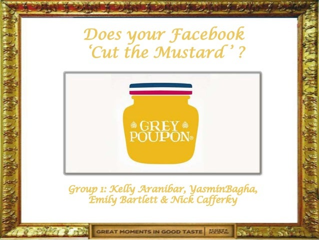 Does your Facebook  'Cut the Mustard ' ?Group 1: Kelly Aranibar, YasminBagha,    Emily Bartlett & Nick Cafferky
