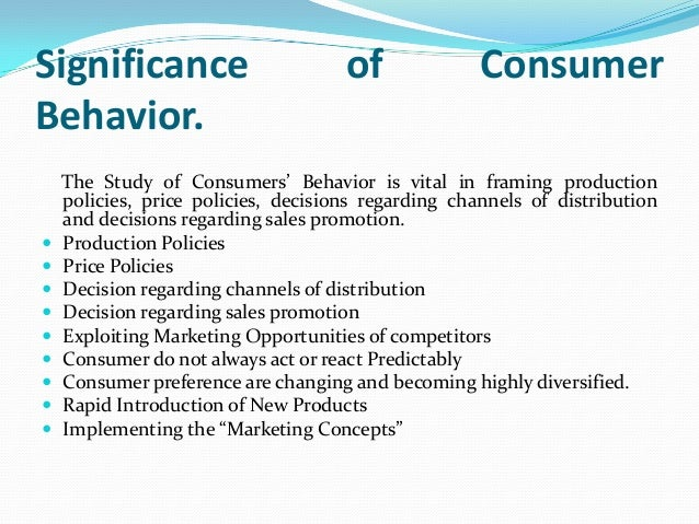 importance of studying consumer behavior