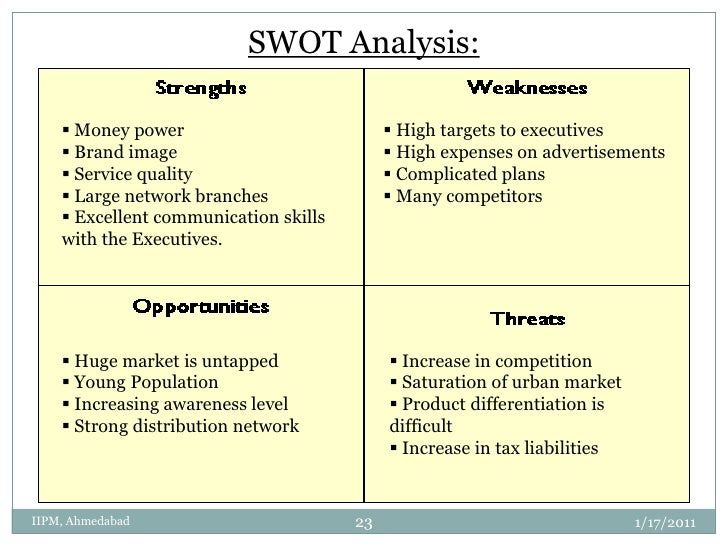 a swot analysis of credit rating institutions A swot analysis should be to-the-point and simple, so as to avoid confusion or over analyzing still, they are very easy to conduct it is important to first delineate who will be part of the swot.