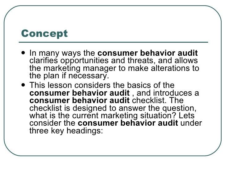 Consumer behavior audit of partylite
