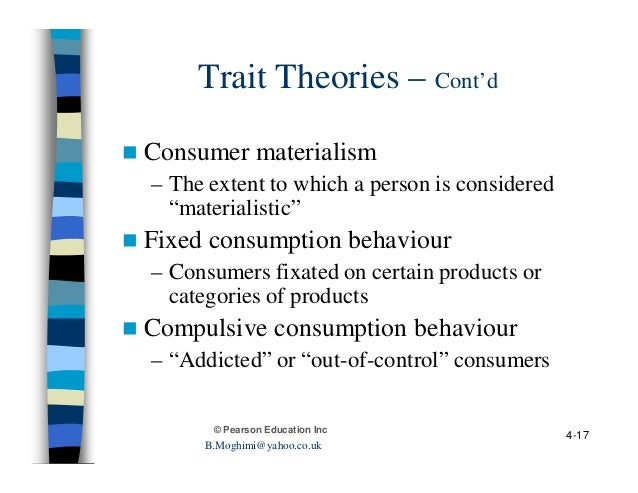 personality and lifestyle in consumer behaviour Coverage includes how the internal factors including personality affect a consumer's purchase decision including a look at self concept.